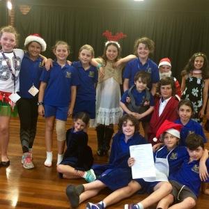 Cast of the Splash Christmas Play