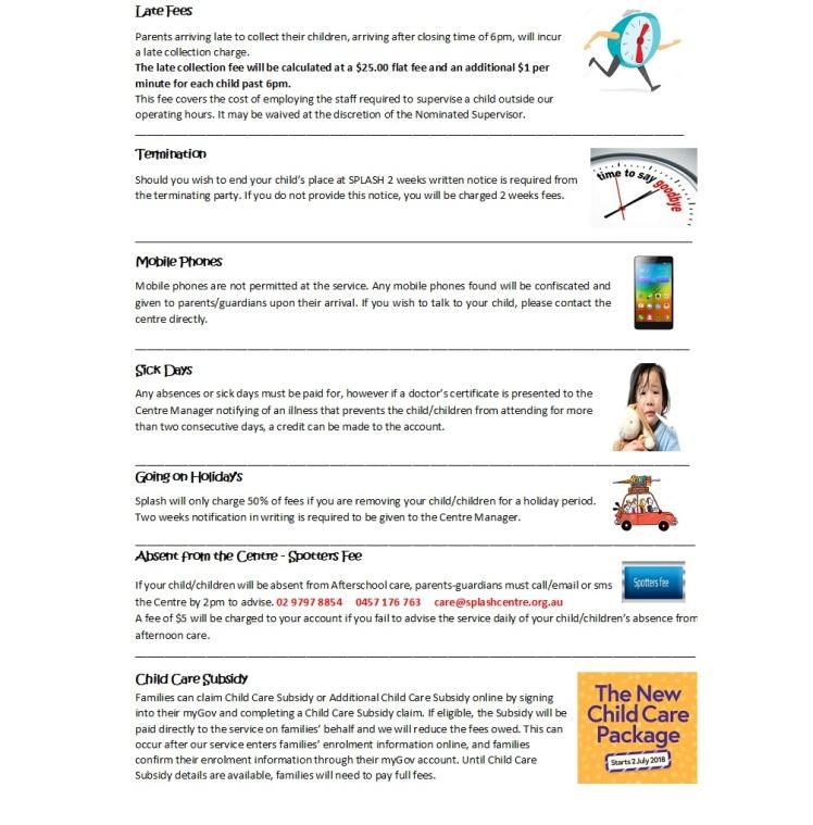 Splash Helpful Tips
